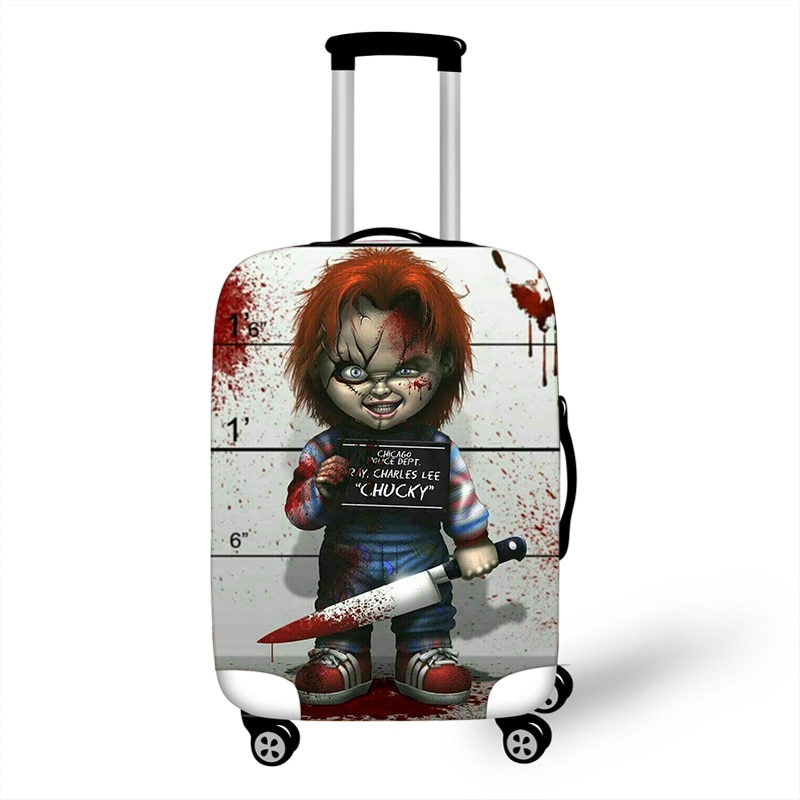 18-32'' Child's Play Chucky Elastic Luggage Protective Cover Trolley Suitcase Protect Dust Bag Case Travel Accessories