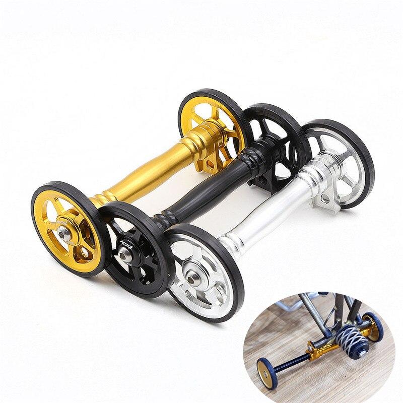 Barra de extensión de rueda fácil de 3 colores soporte telescópico compatible con bicicleta brompton parking