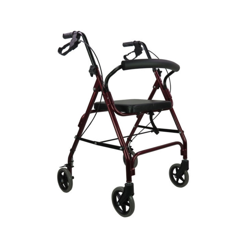 كبار السن ووكر أربع عجلات ووكر طوي المحمولة المشي ووكر مساعدة المشي جهاز المسنين عربة التسوق عربة