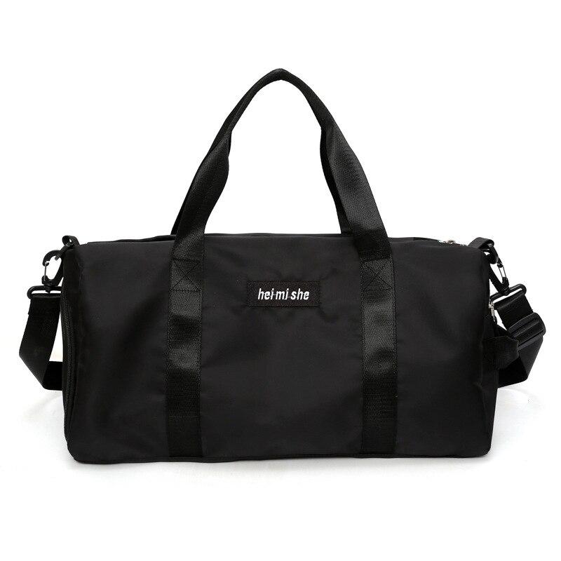Sports Fitness Bag Women's Yoga Bag Dry and Wet Separate Single Shoulder Bag Training Bag Cylindered Hand Travel Bag