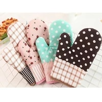 1pcs cotton oven glove heatproof microwave oven mitten kitchen cooking thickened gloves insulated non slip gloves fpjst95