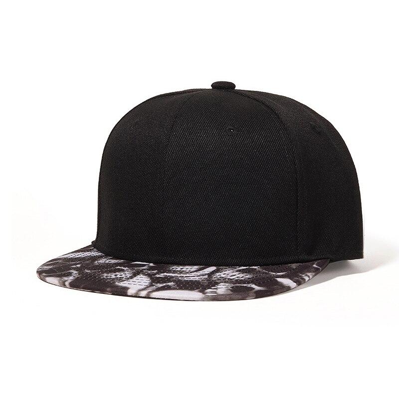 Кепка Snapback, Мужская Черная кепка с черепом, плоская шляпа для папы, Регулируемый Хип-хоп, спортивный летний аксессуар для улицы
