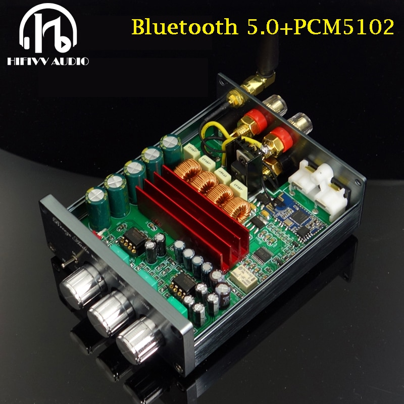 100W *2 Bluetooth 5.0 Digital Amplifier of TPA3116d2 home Digital AMP 2.0CH QCC3003 + TPA3116 + PCM5102 dac ATPX HDaptX