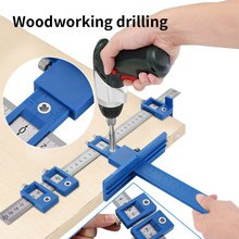 Guide de perceuse à bois poinçon localisateur détachable trou poinçon outil de gabarit Center foret Guide ensemble bois forage outil de travail du bois