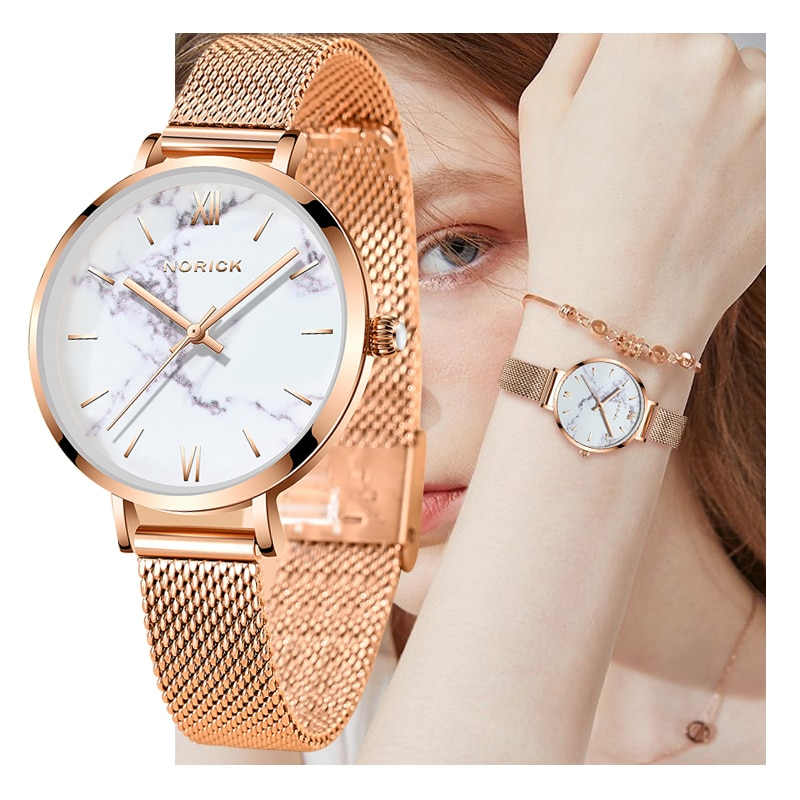 2021 Fashion Womens Watches Top Brand Luxury Waterproof Watch Ladies Stainless Steel Ultra-Thin Casu
