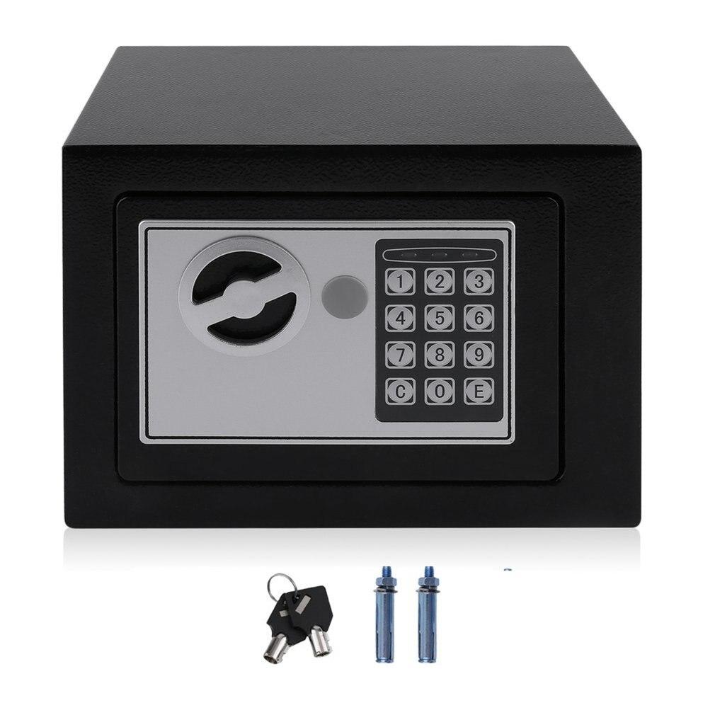 Caja fuerte de acero sólido 4.6L caja de seguridad electrónica con teclado Digital caja fuerte Mini caja de almacenamiento de dinero en efectivo