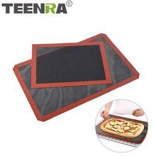 Tapete de silicona de grado alimenticio TEERA para hornear hojas de galletas horno antiadherente para galletas pan galletas horno doméstico para cocina herramientas