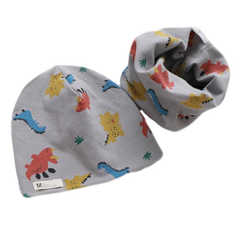 New Cartoon Plush Girls Hat Scarf Sets Owl Stars Print Baby Boy Hat Set Children Warm Neck Collar Co