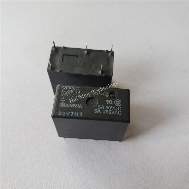 8 Uds relé Omron G5SB-14-24VDC 250V 5A relé de 5 pin