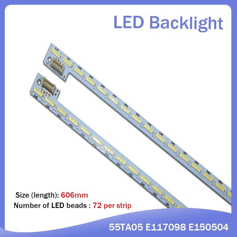 2 جزء/الوحدة ل إصلاح LCD TV LED الخلفية 74.55P02.001-3-DX1 المادة مصباح 55TA05 E117098 E150504 1 قطعة = 72LED 606 مللي متر