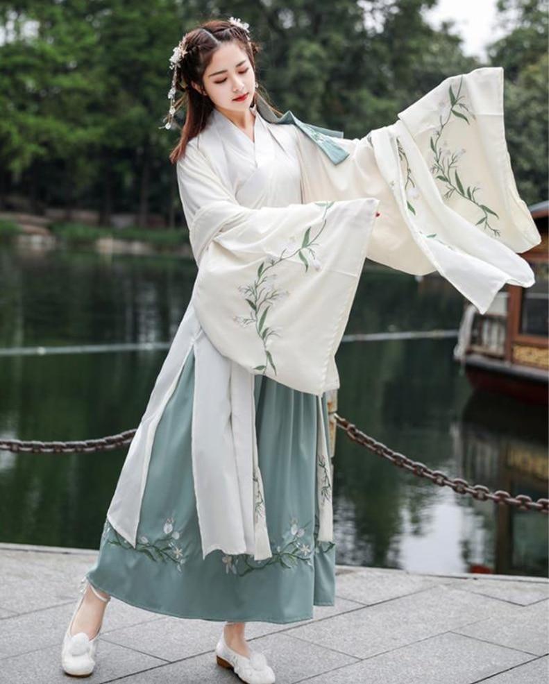 Du Ruo large-sleeved shirt Hanfu women Chinese skirt Wei Jin elegant Hanfu skirt student daily wide-sleeved Hanfu princess skirt