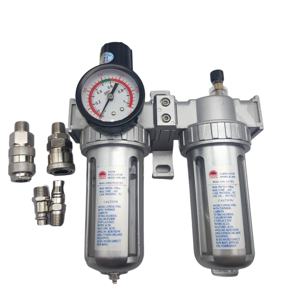 SFC-400 SFC-300 SFC-200 ضاغط الهواء فلتر الهواء منظم فاصل مياه زيتية فخ تصفية منظم صمام استنزاف التلقائي