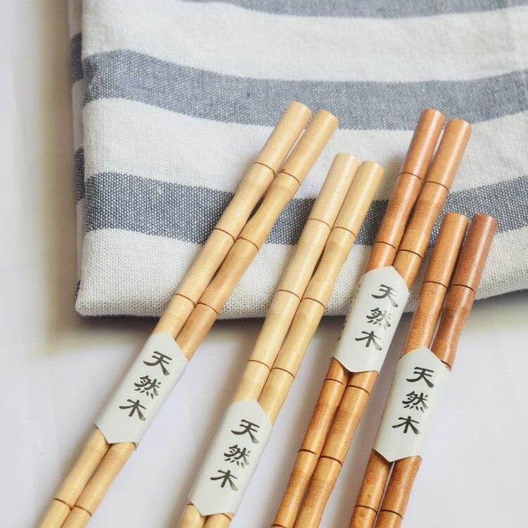 Hashi bastão de madeira de bambu natural, artesanal, saudável, varas de bambu, reutilizáveis, para presente
