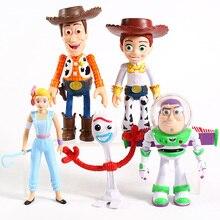 4 Woody Jessie Buzz Lightyear Forky BoPeep figura juguetes de modelos de colección 5 unids/set