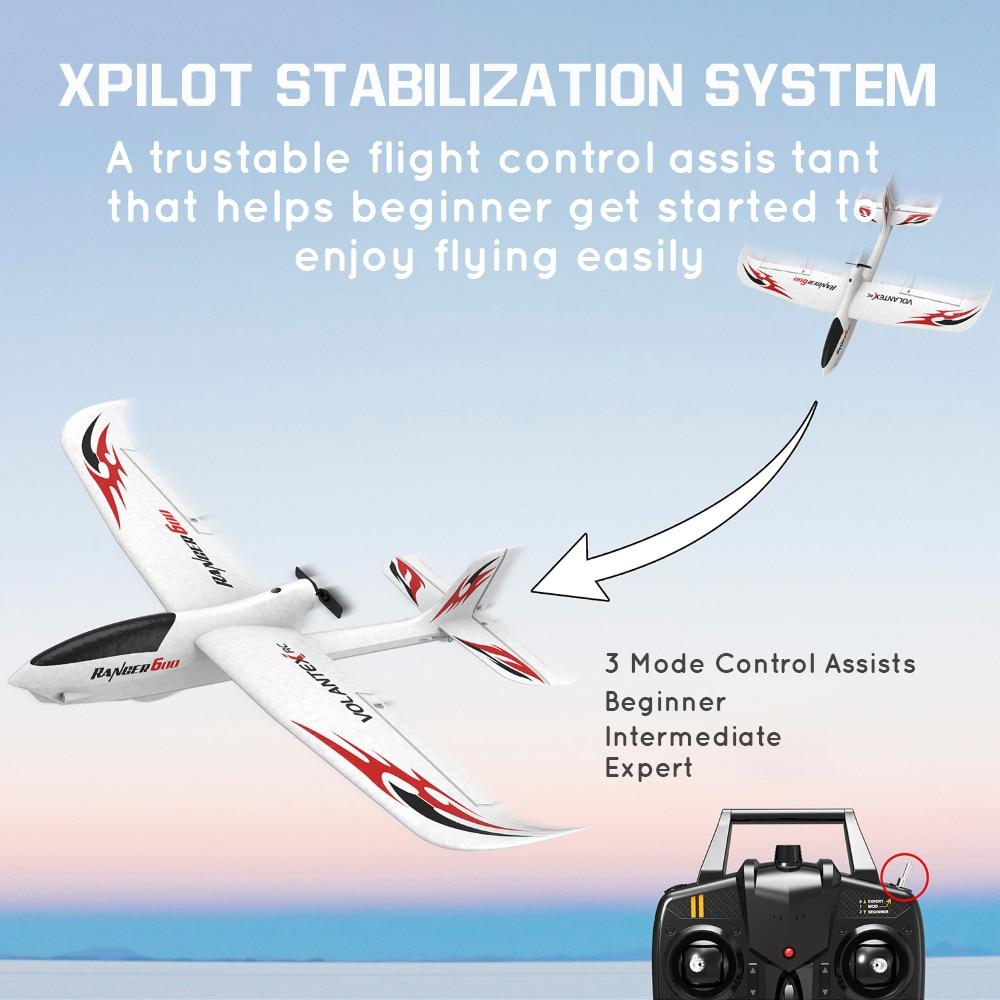 Volantex 761-2 RC plane Helicopter 3CH 2.4G Remote Radio Controlled EPP Foam Airplane Aircraft Fixed Wing Glider 600mm Wingspan enlarge