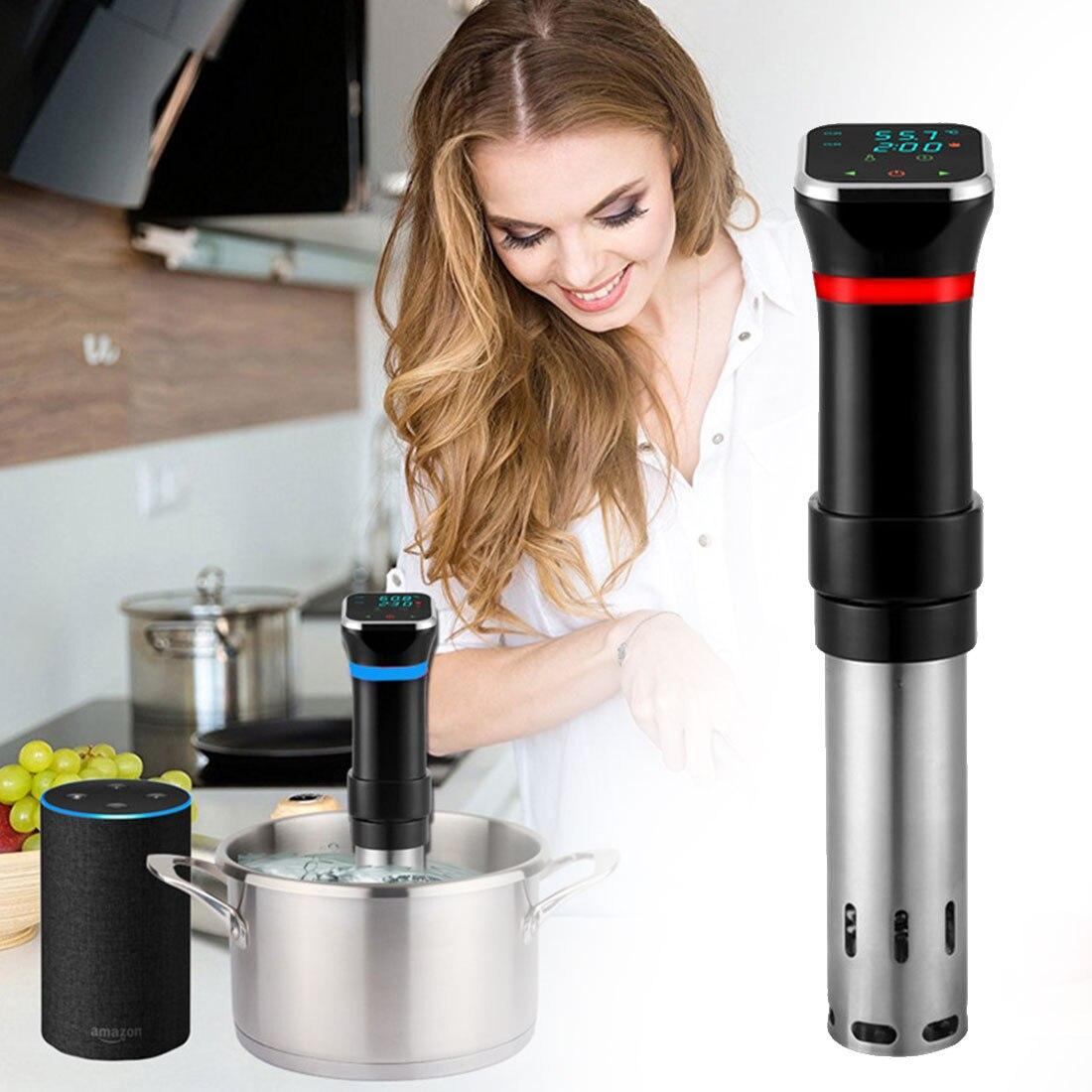 LCD فراغ الغذاء Sous فيديو طباخ 1100 واط IPX7 مقاوم للماء قوي الغمر دائري بطيئة طباخ ماكينة طهي دقيقة