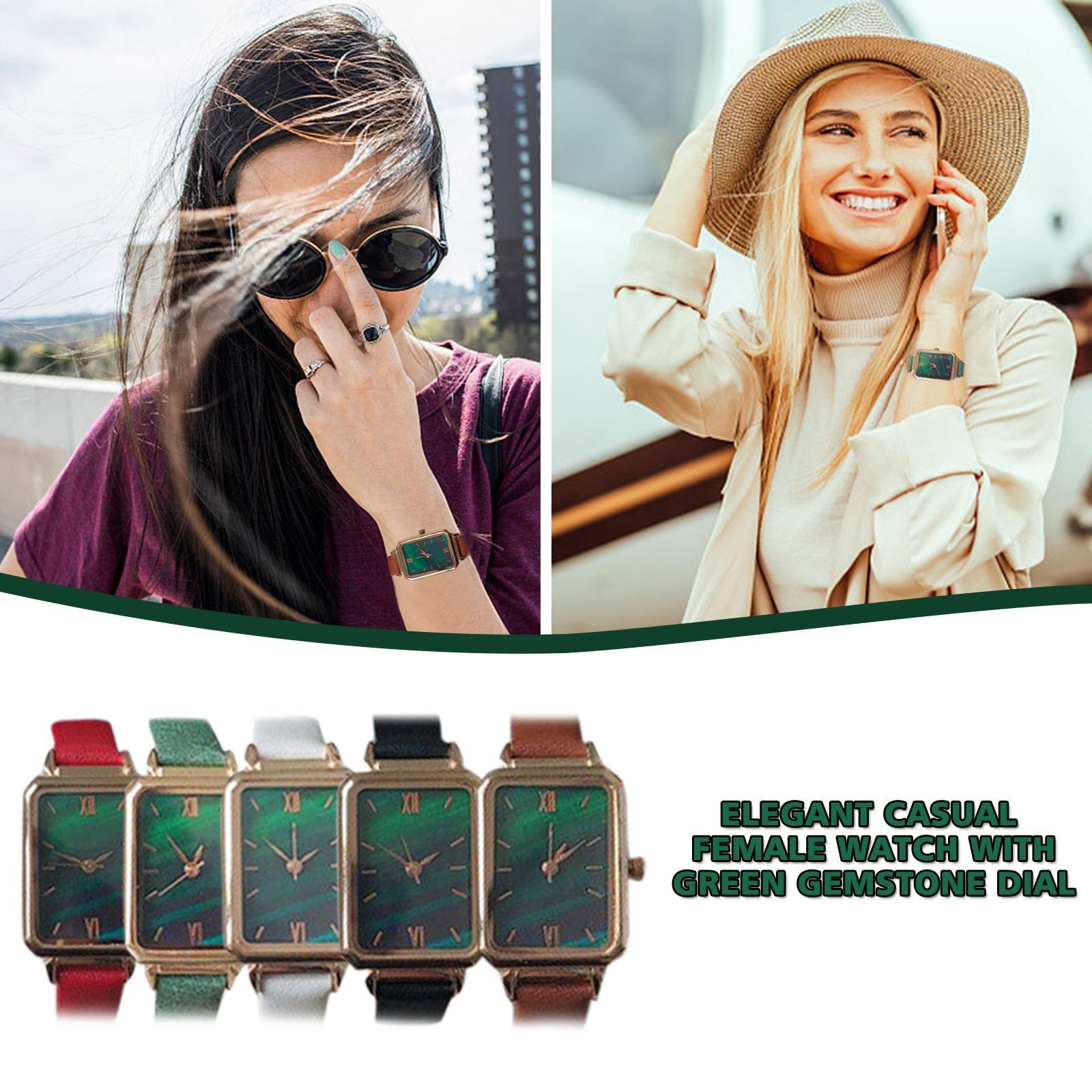 Fashion Small Female Wristwatches Relojes Para Mujer Ladies Vintage Leather Women's Watches Sleek Minimalist Quartz Woman Clock