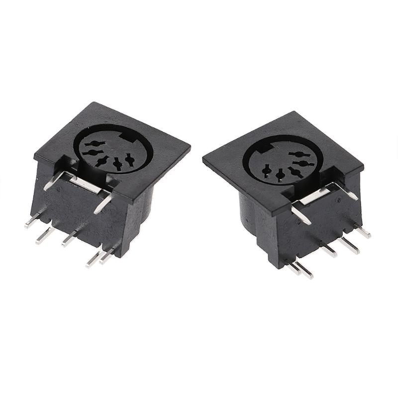 10 Pcs/Set PCB Panel Mount Female Connector DIN5 DIN 5-Pin Jack DS-5-01 MIDI W3JA