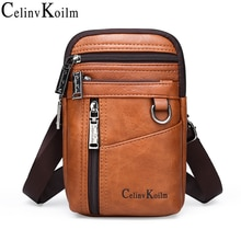 Celinv Koilm брендовая маленькая многофункциональная сумка-мессенджер через плечо, мужские сумки на плечо, сумки на талии для мужчин, унисекс, По...