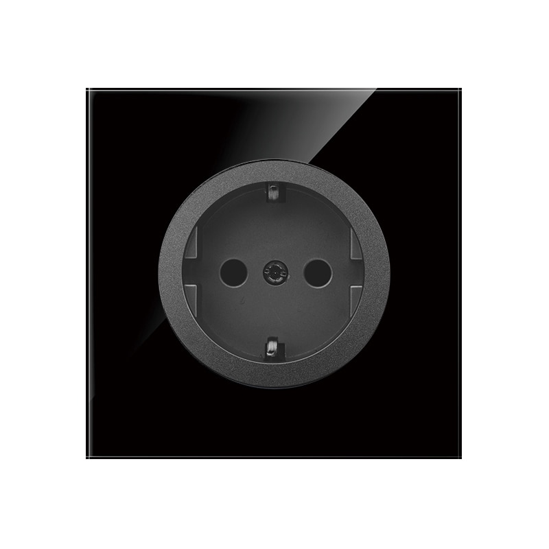 KAMANNI UE di Potere Della Parete presa di corrente 5 Colori Nero di Cristallo di Vetro Pannello prese Elettriche usb 16A 110V - 240V Presa 220v