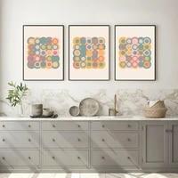 Toile dart murale minimaliste avec images geometriques modernes  ligne de couleur abstraite  affiche et galerie dimpression  decoration de maison pour salon