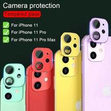 Película de vidro temperado para iphone, película protetora completa para câmera traseira do iphone 11 pro max filme de vidro da lente traseira,