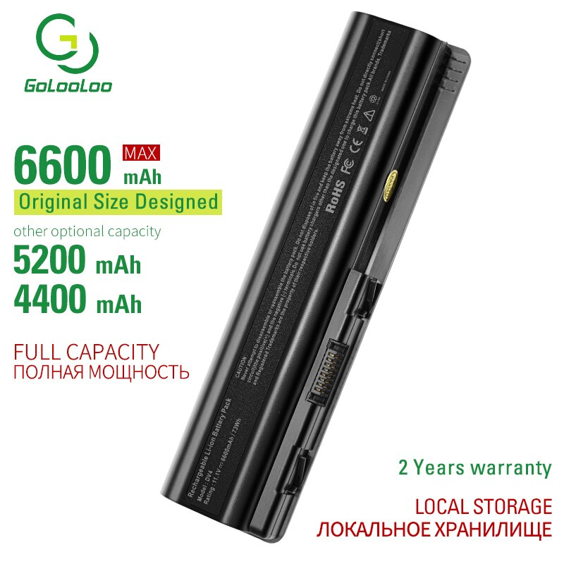 Gololoo 6 ячеек Аккумулятор для ноутбука Hp Compaq Presario CQ40 CQ45 CQ50 CQ60 CQ61 CQ70 CQ71 HP G50 G60 G61 G70 G71 HDX16 HDX16t