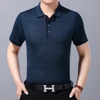 mens short sleeved polo shirts in summer plus size loose ice polo shirts 40 50 middle aged and elderly summer polo shirts