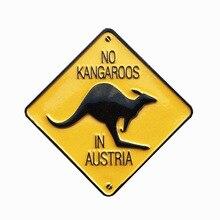 BABELEM Kreative Kühlschrank Magnet Souvenir 3D Gedruckt KEINE Känguru IN Australien Straße Zeichen Dekorative Kühlschrank Magneten Geschenke