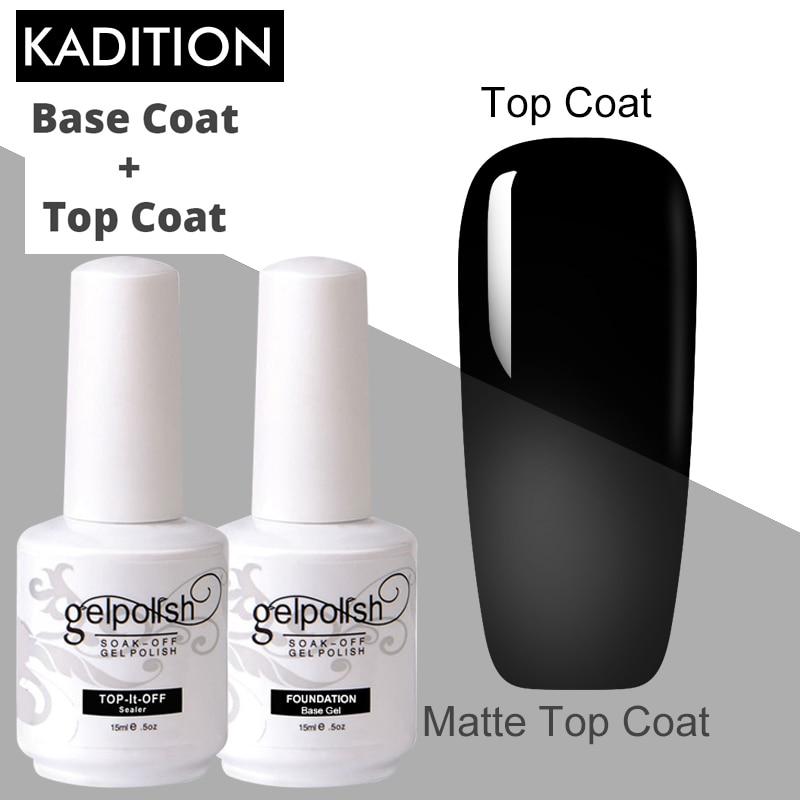 Gel barniz 15 Ml abrigo + Base de Gel Base y no-limpiando claro Primer esmalte de uñas Base superior capa de esmalte para decoración de uñas