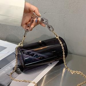 Acryl Shoulder Bag Fashion Trend Crossbody Bags  Woman Brand Designer Cylinder Handbag Casual All-match Solid Color Phone Pack