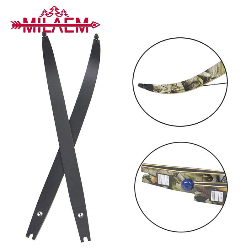 1 Pair ILF Archery Recurve Bow Limb Laminated Wood  Replaceable High Strength Takedown Bow Limb for Hunting Shooting Accessories