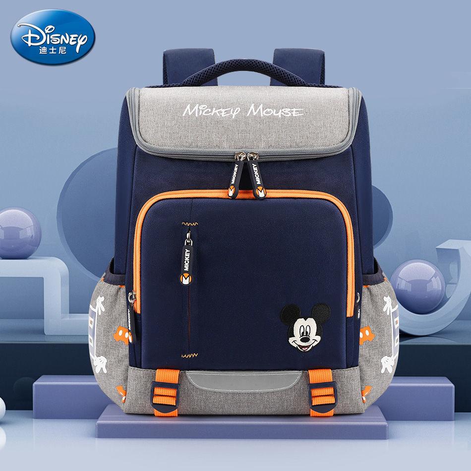 Оригинальный новый детский школьный рюкзак Disney с мультяшным Микки, вместительный многофункциональный легкий рюкзак для учеников 1-6 классо...