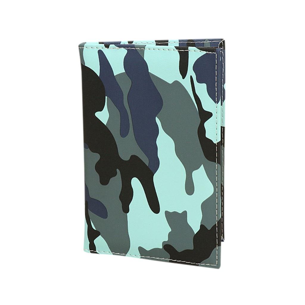 Unisex Camouflage Viagem Capa de Passaporte Caso ID Carteira Do Cartão de Crédito Clipe Britânico de Moda casual multi-função saco cartão визитница