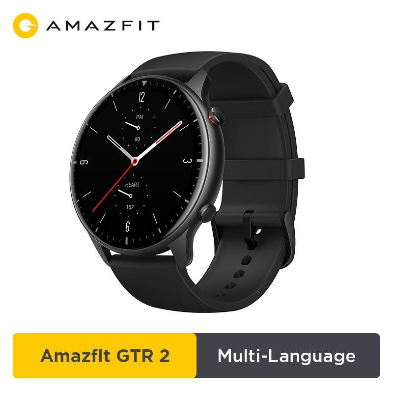 Amazfit – montre connectée GTR 2, avec autonomie de la batterie de 14 jours, écran AMOLED, 326ppi, musique, 5atm, contrôle de l'heure en toute confiance, surveillance du sommeil, nouveauté 2021