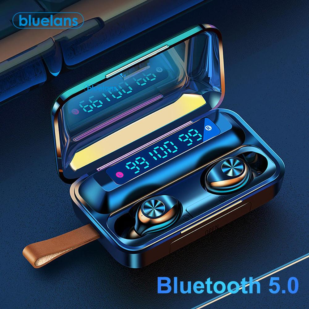 F9-11 TWS Waterproof Earbuds Bluetooth 5.0 LED Display Touch Control 9D Stereo Earphones With 2000mA