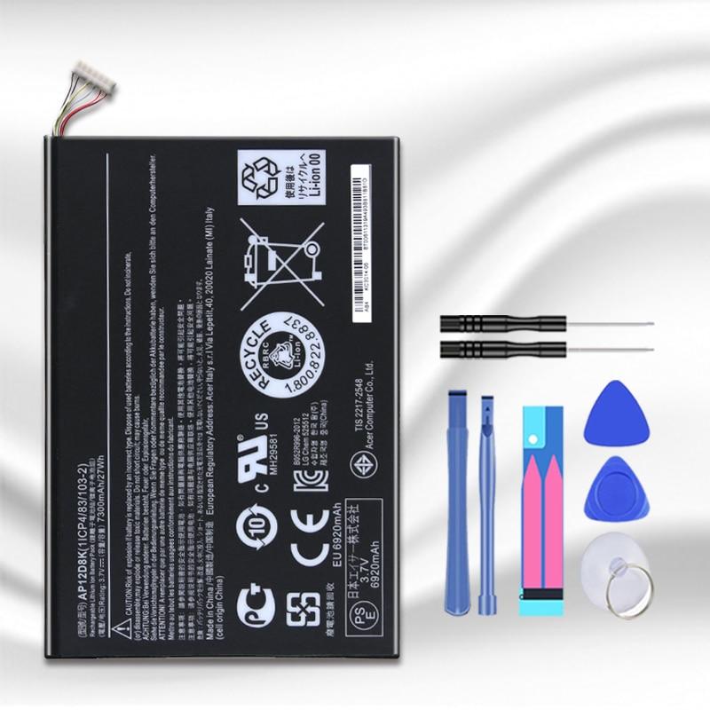 Nuevas baterías para Acer Iconia W511P Series AP12D8K 1ICP4/83/103-2 3,7 V 27WH A3-A10 A3-A11 W510 W510P W511 batería + número de seguimiento