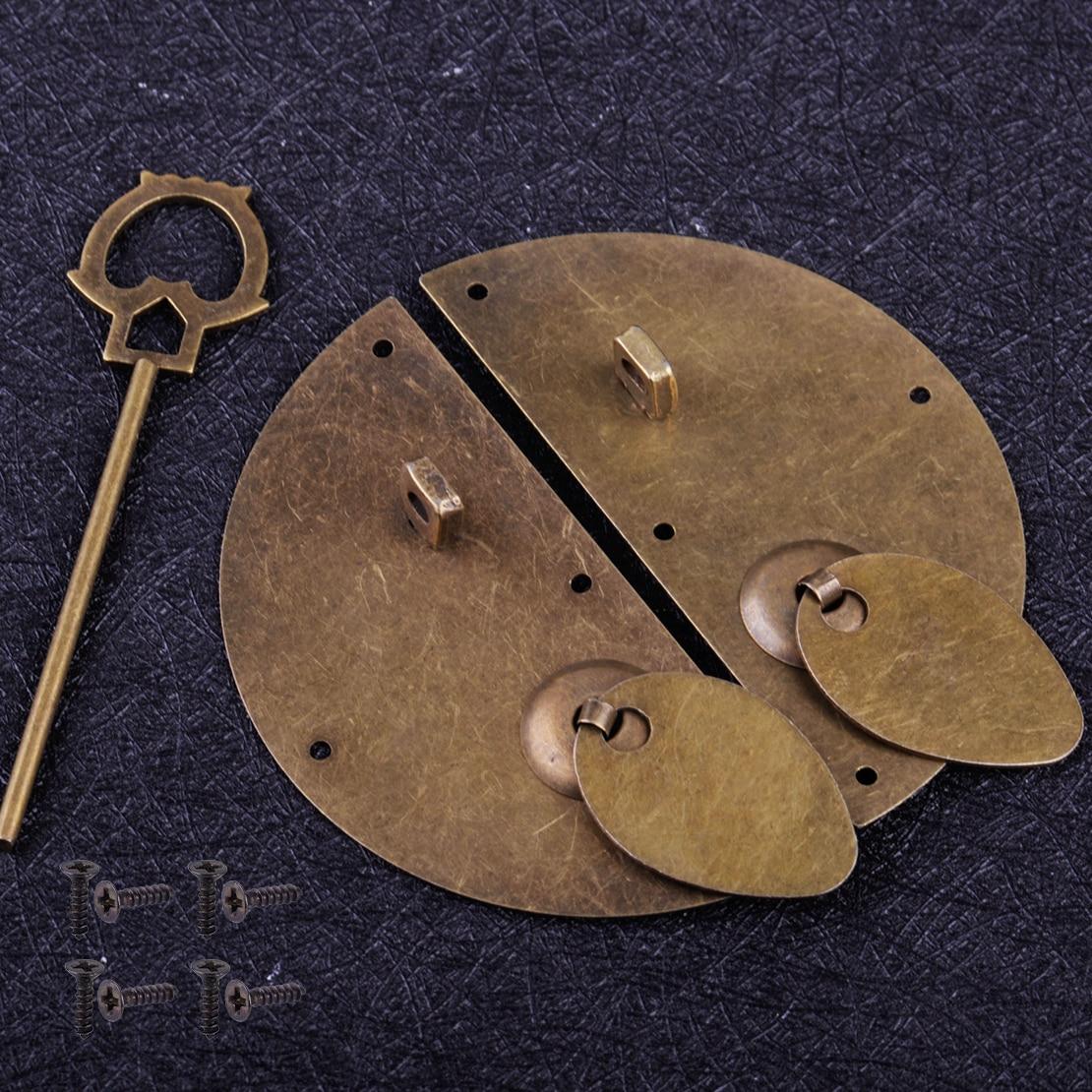 Vintage Chinese Ancient Style Antique bronze Door Knocking Cabinet Pull Latch Lock Retro Furniture Hardware