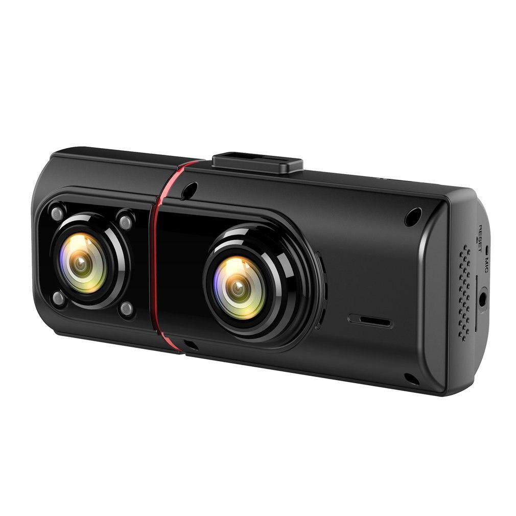 Автомобильный регистратор KG350, устройство для записи вождения с высоким разрешением и двойной записью, с ночным видением, GPS