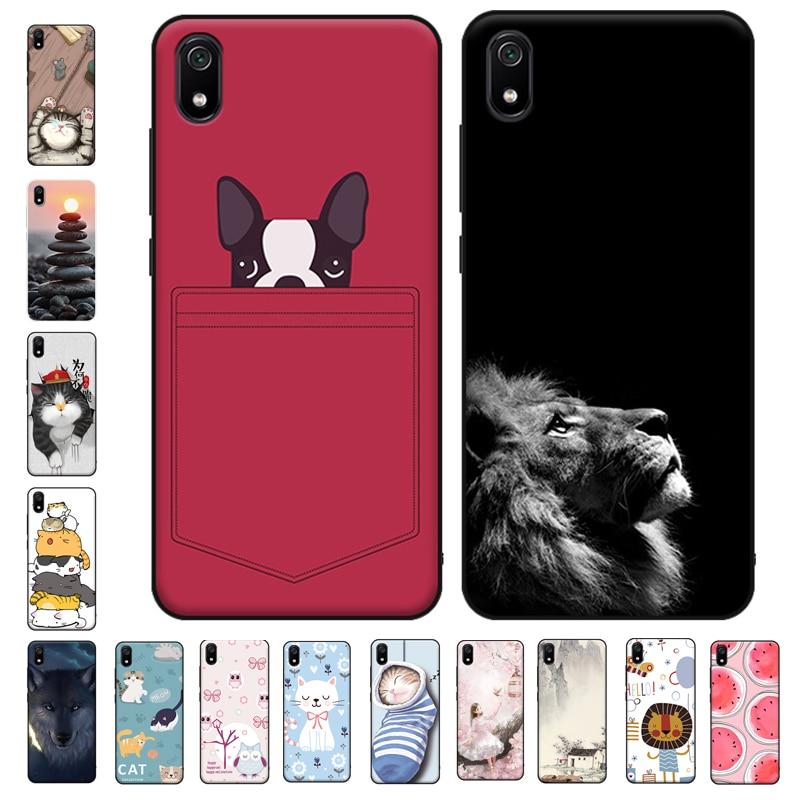 Phone Case for Xiaomi Redmi 7A 7 A Case Silicone Soft TPU Back covers for Xiaomi Redmi 7A Case 5.45 inch Lion Coque Redmi7A capa