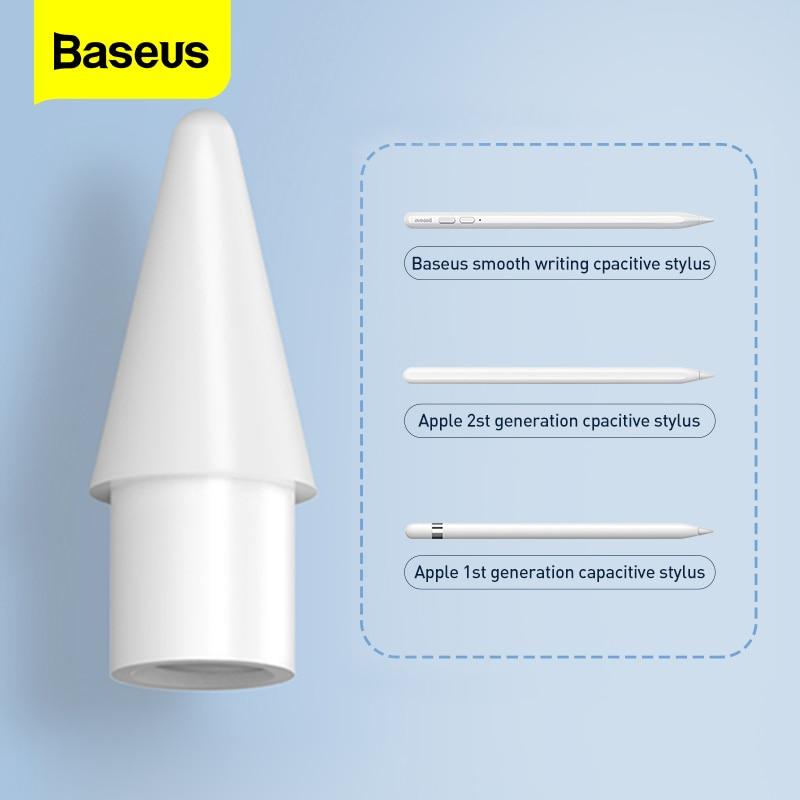 Baseus 2PCS Stylus Pencil Tips for Apple Pencil 2 1 2nd 1st Gen Spare Tip Nib Replacement Touch Pen
