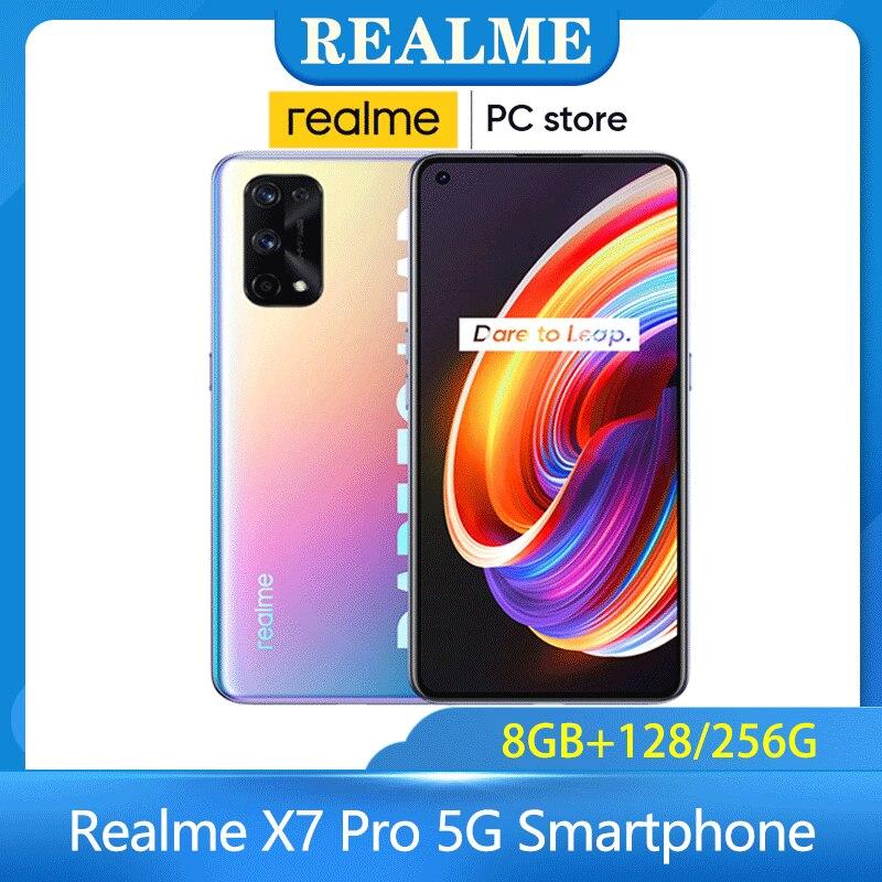 Перейти на Алиэкспресс и купить Realme X7 Pro 5G смартфон мульти-Язык 8 + 128/256G NFC 6,55 дюймов 120 Гц активно-матричные осид, Экран 64-мегапиксельная четырехъядерная камера 4500 мА/ч, 65 Вт бы...