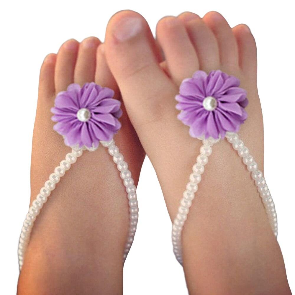Anillo de pie de perla para bebé, Anillo de pie de flor de Gasa, suministros de tiro de luna llena para bebé, flor de pie en forma de Y