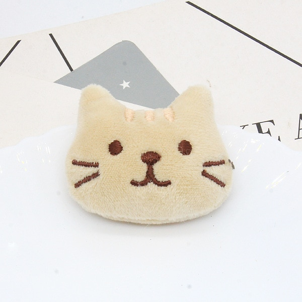 10Pcs/lot Cute little cat cartoon doll patches appliques for DIY headwear hair clip accessories shoes and socks accessories