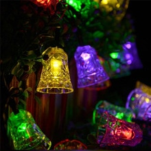 40 Leds Jingle Glocke String Licht Girlande Licht Led Lampen Festival Laterne Batterie Box Weihnachten Urlaub Dekor Fee Lichter