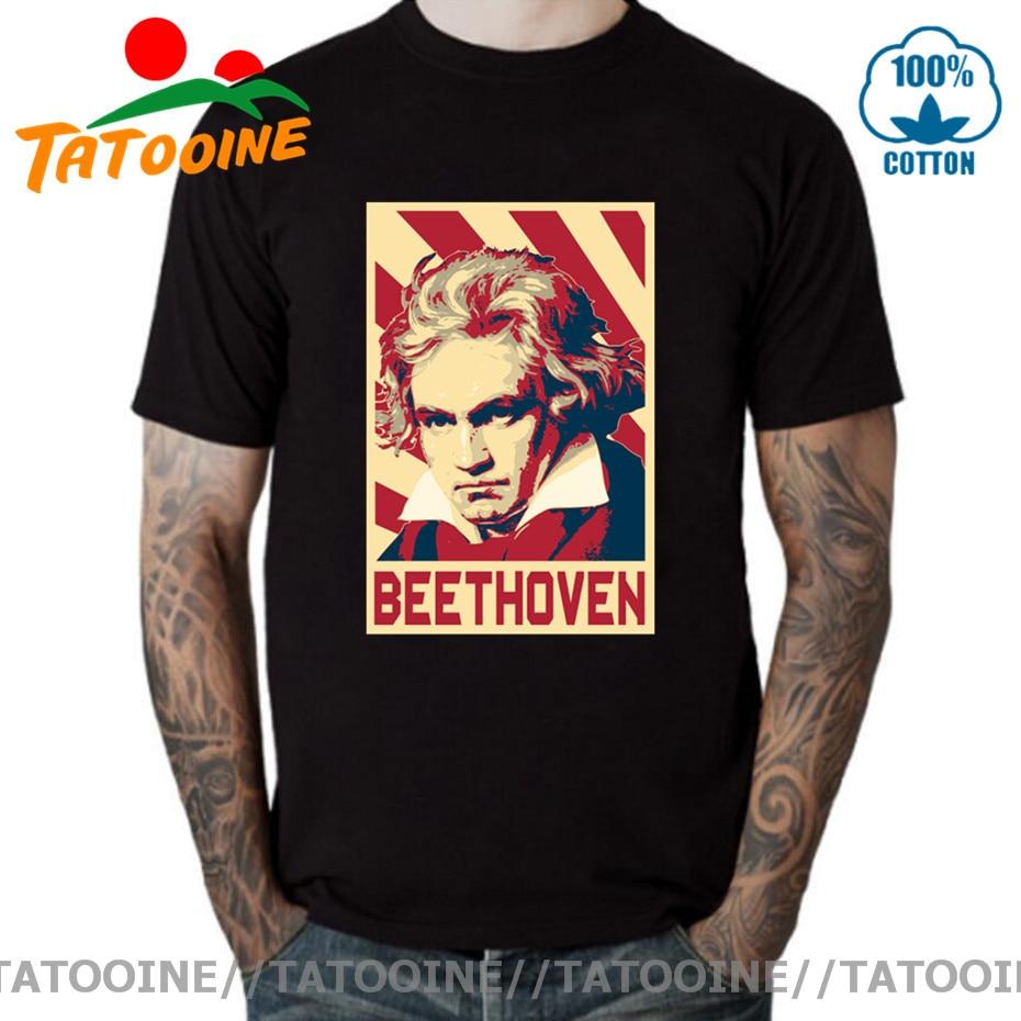 Camiseta Tatooine para hombre, Ludwig Van Beethoven, cartel de Propaganda, música, compositor...