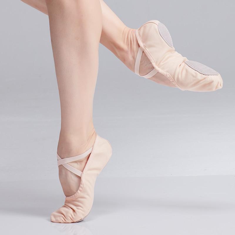 Балетки для танцев; Женские балетки на плоской подошве; Слитные парусиновые балетки; Балетки без застежки; Обувь для тренировок