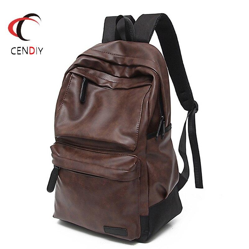 حقيبة ظهر فاخرة من جلد البولي يوريثان للرجال ، حقيبة سفر ، عصرية ، 2021
