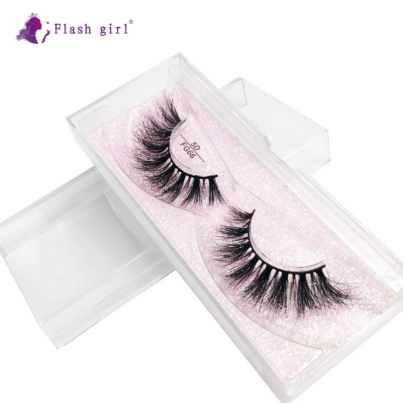 1 Pair 5D Mink False Eyelashes In Bulk Wispy Natural Long Eye Lashes Makeup Tools Thick Handmade Fak