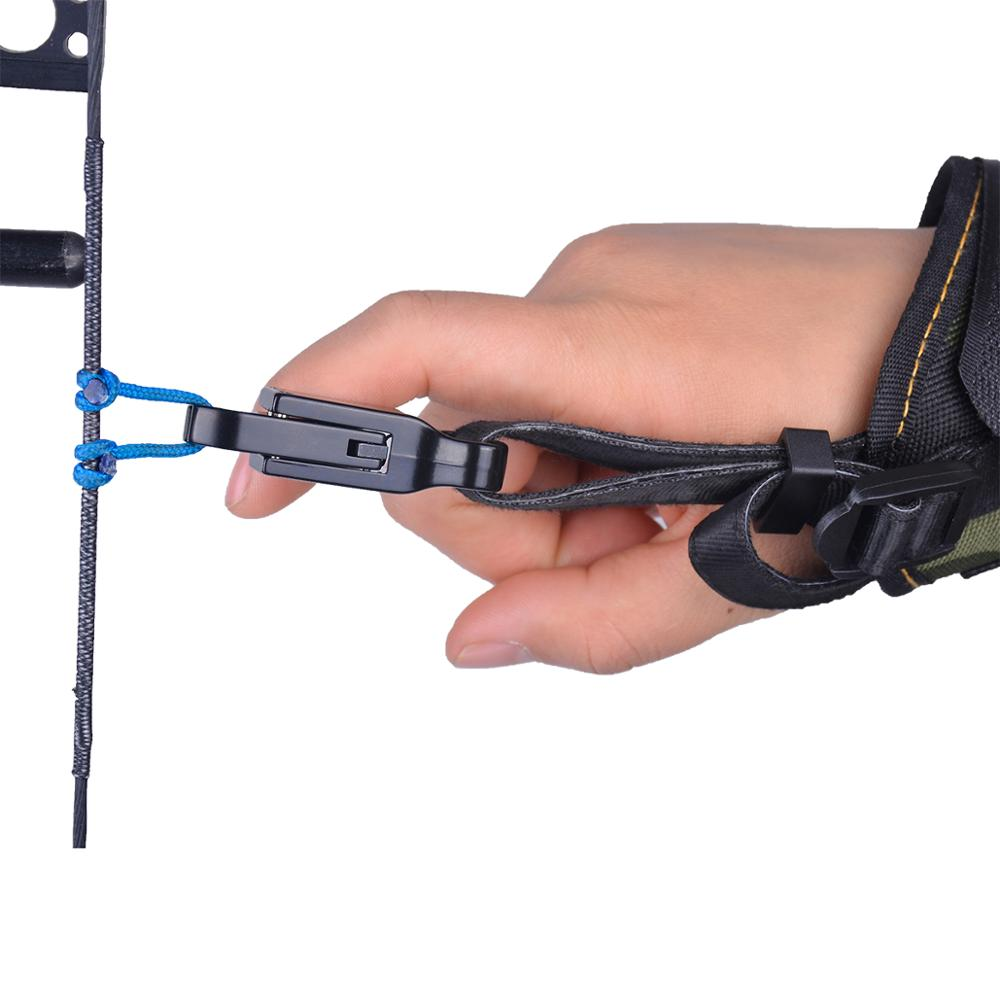 Correa de muñeca camuflaje lona longitud ajustable compuesto arco lanzamiento diseñado para mano derecha izquierda ajuste juvenil a tiro al arco adulto